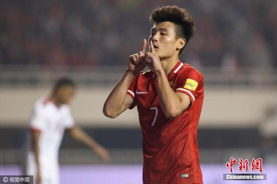 2018世界杯预选赛 中国男趾2:0胜于卡塔尔居C组