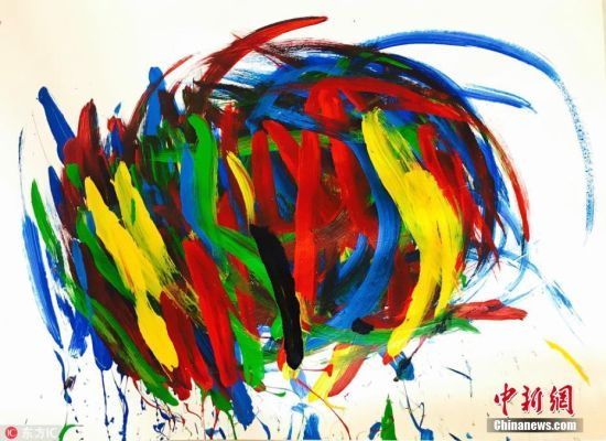 动物界的毕加索 南非小猪将举办首个画展(2)