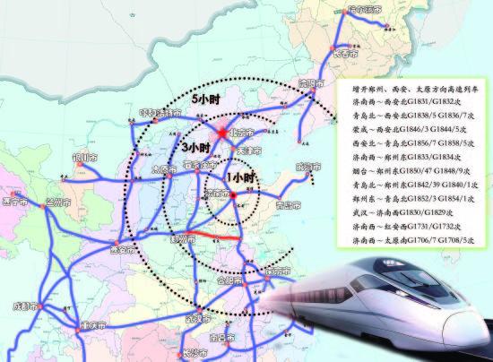 9月起山东高铁直达西安太原