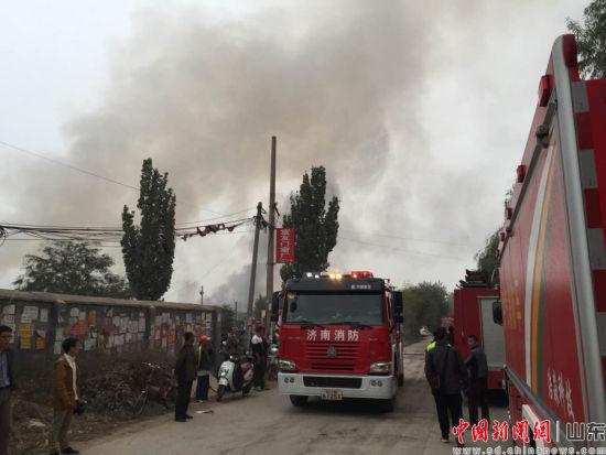 济南历城区盖家沟仓库发生煤气爆炸 附近震感