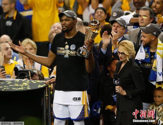 杜兰特获总决赛MVP 勇士获NBA总冠军