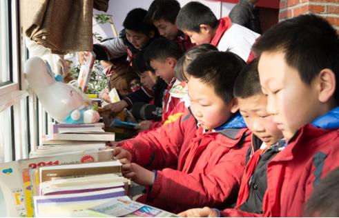 我为山区儿童献爱心 支部共建乡村少年儿童图书馆