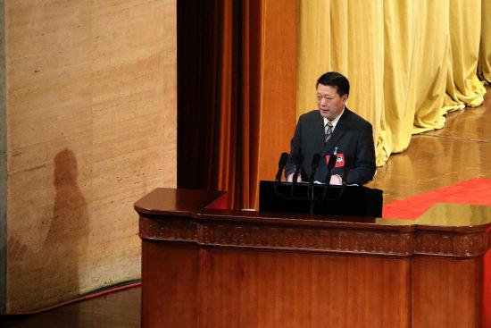 山东省政协副主席赵家军当天作工作报告